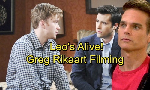 Days of Our Lives Spoilers: Leo's Alive - Greg Rikaart Back On DOOL Set Filming