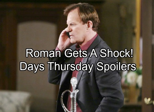 Days of Our Lives Spoilers: Thursday, August 17 - Hattie's Kiss Shocks Roman – Adrienne in Solitary – Chloe Chews Out Brady