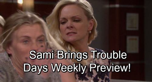 Days of Our Lives Spoilers: Hot New Weekly Promo - Where Sami Goes, Trouble Follows - Life or Death Struggle