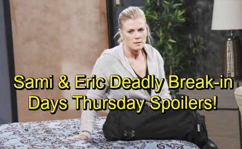 Days of Our Lives Spoilers: Thursday, October 18 – Eric and Sami's Dangerous Break-In – Stefan Pushes Abigail to Accept Her Fate