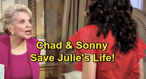 Days of Our Lives Spoilers: Chad and Sonny Team Up to Save Dying Julie – Guilty Gabi Faces Questions After Staircase Disaster