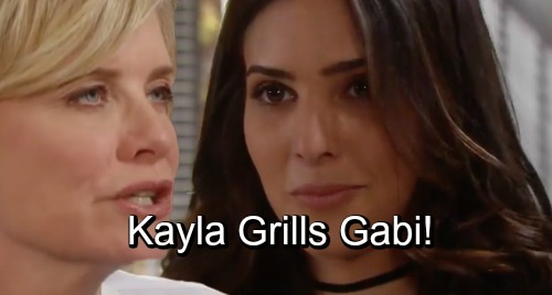 Days of Our Lives Spoilers: Kayla Grills Gabi - Suspects Gabi Gaslighted Abigail