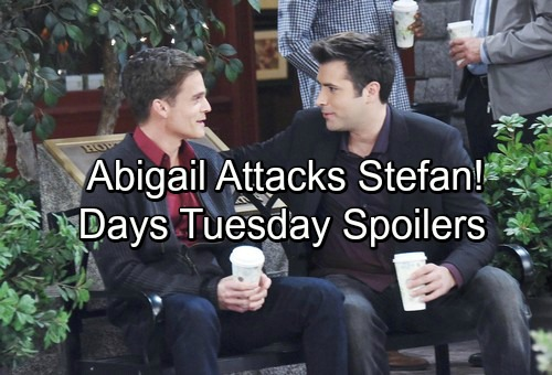 Days of Our Lives Spoilers: Tuesday, March 27 – Abigail Blasts Stefan – Belle Steps Up for Chad – Secretive Leo Charms Sonny