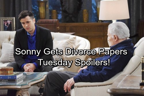 Days of Our Lives Spoilers: Tuesday, January 30 – Sonny Gets Divorce Papers – Valerie and Lani's Showdown