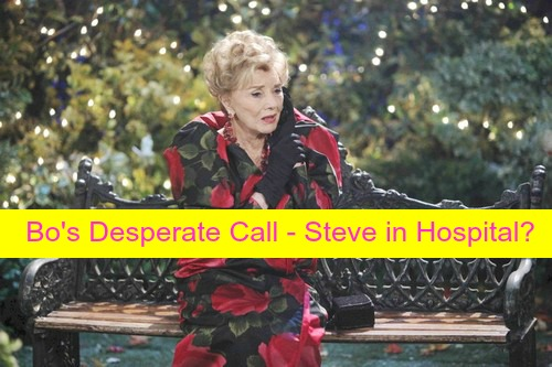 Days of Our Lives (DOOL) Spoilers: Kayla in Shock as Steve Rushed to Hospital - Bo Calls Caroline, Urges Wedding Delay