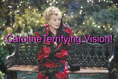 Days of Our Lives (DOOL) Spoilers: Caroline's Terrifying Vision as Victor Plots with Philip Against Deimos