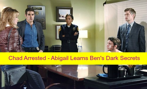 Days of Our Lives (DOOL) Spoilers: Chad Out of Coma With Amnesia, Arrested – Abigail Discovers Ben's Dark Secrets