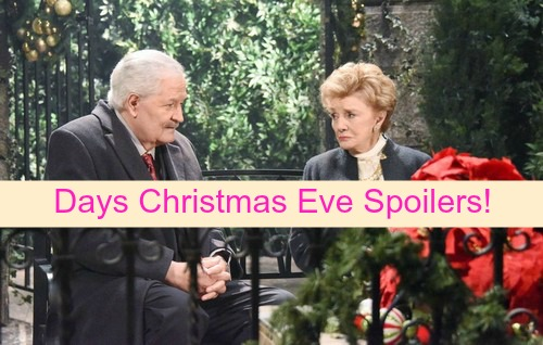Days of Our Lives (DOOL) Spoilers: Abigail and Chad Fight Over Belle – Marlena Fears for John's Life - Christmas Eve Tradition