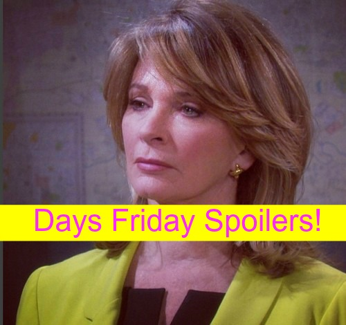 Days of Our Lives (DOOL) Spoilers: Plane Crash Derails Bo - Marlena Questions Chad – Nicole Pushes Theresa to Challenge Kate
