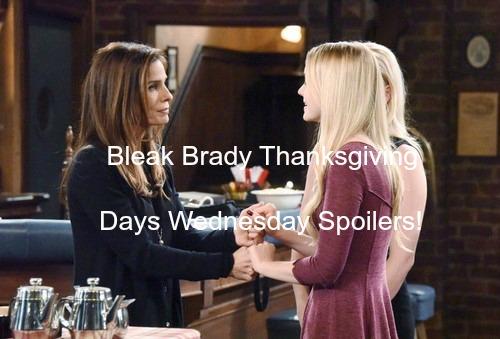 Days of Our Lives (DOOL) Spoilers: Belle Announces Divorce - Hope Desperate for Revenge - Sad Brady Thanksgiving