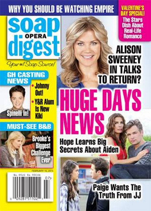'Days of Our Lives' Spoilers: Alison Sweeney in Talks to Return to DOOL, Sami Brady Soon Back in Salem?
