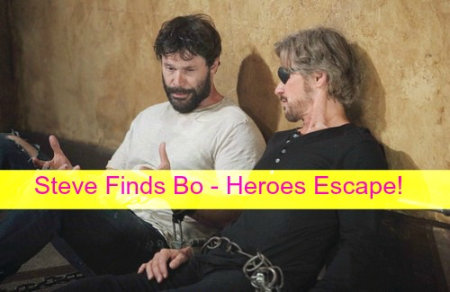 Days of Our Lives (DOOL) Spoilers: Steve Reunites with Bo, Our Heroes Escape - Try to Get Home to Stop Hope's Wedding