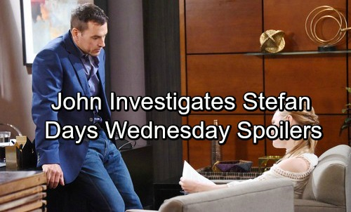 Days of Our Lives Spoilers: Wednesday, January 10 - John Investigates Stefan – Gabi and Stefan's Fierce Faceoff