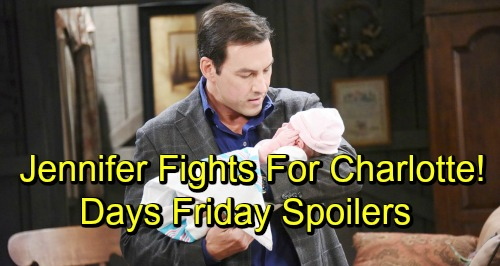 Days of Our Lives Spoilers: Friday, November 16 – Jennifer and Stefan's Baby Showdown – Claire's Plan Falls Apart, Wyatt Blabs to Ben