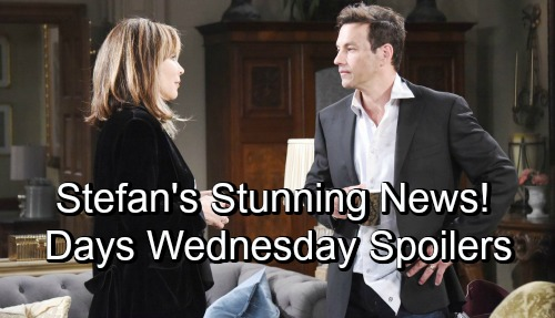 Days of Our Lives Spoilers: Wednesday, November 7 – Stefan's Stunning News - Sami's Desperate Search For EJ