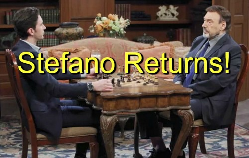Days of Our Lives (DOOL) Spoilers: Stefano DiMera Returns - Chad Pours Heart Out, Shows Love for Father