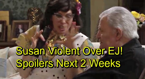 Days of Our Lives Spoilers Next 2 Weeks: Susan Violent Over EJ – Chad Takes Abigail Hostage – John and Marlena Marry at Last