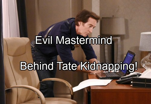 'Days of Our Lives' Spoilers: New Kidnapper Clues Surface, Tate Search Takes Unexpected Directions – Who's the Evil Mastermind?