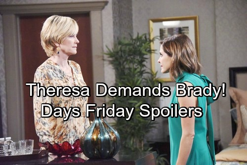Days of Our Lives Spoilers: Friday, May 25 – Theresa Demands Eve Dump Brady – Operation Free Chloe Begins – Gabi Faces Bombshells