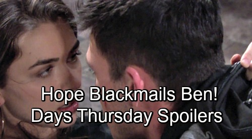 Days of Our Lives Spoilers: Thursday, August 9 – Chad Explodes, Decides to Leave Abigail – Ben Faces Hope's Harsh Ultimatum