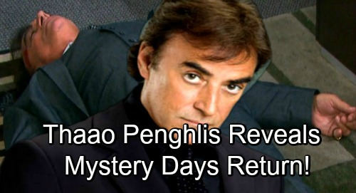 Days of Our Lives Spoilers: Thaao Penghlis Dishes on Mystery 2019 DOOL Comeback – Exciting DiMera Return Drama