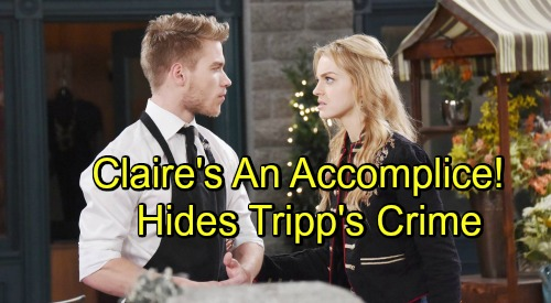Days of Our Lives Spoilers: Claire Hears Tripp's Confession About Framing Ben, Becomes Criminal Accomplice