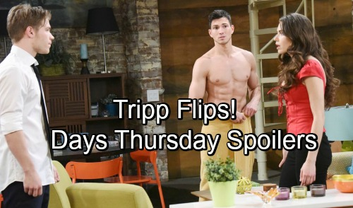 Days of Our Lives Spoilers: Thursday, August 16 – Gabi's Lies Add to Chad's Pain – Steve Betrays Kayla – Ben Moves In, Tripp Explodes