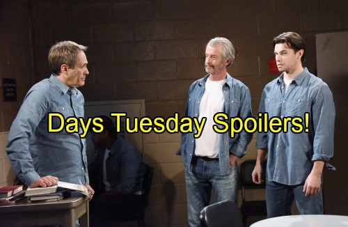 'Days of Our Lives' Spoilers: Marlena Visits Clyde in Prison, Orpheus Lurks Nearby – Laura Blasts Chad as Andre Schemes