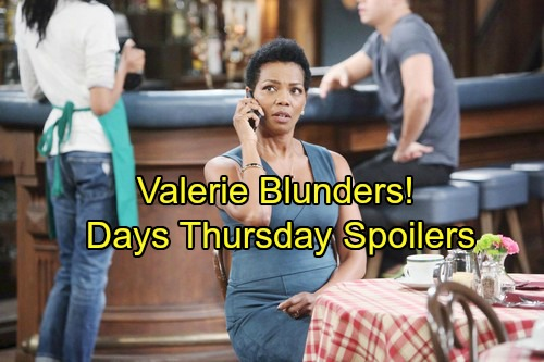 Days of Our Lives Spoilers: Thursday, March 15 – Valerie Leaves JJ Suspicious – Eli Warns Julie