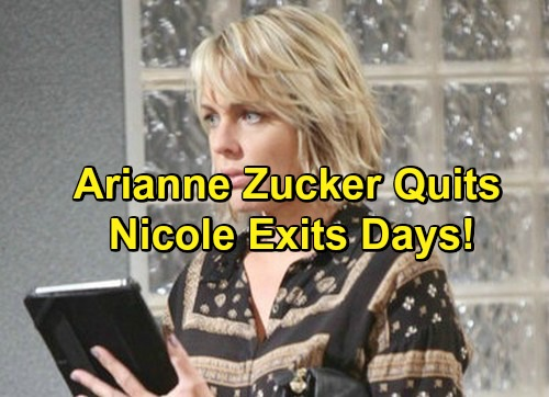 Days of Our Lives Spoilers: Arianne Zucker Quits DOOL - Decides Not to Renew Contract, Exits Role of Nicole