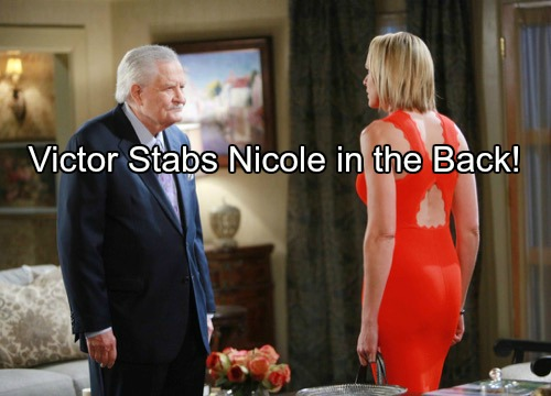 Days of Our Lives (DOOL) Spoilers: Victor Stabs Nicole in the Back With Kate – Dario and Nicole Arrested, Share a Kiss