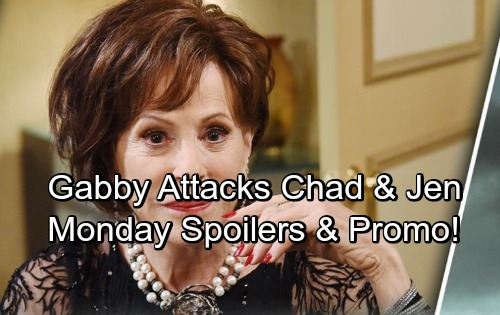 Days of Our Lives Spoilers: Monday, April 30 – Gabby Blasts Chad and Jennifer – Drunken Prisoners – Weekly Promo Video