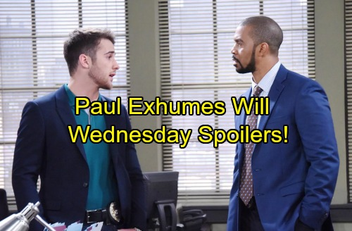 Days of Our Lives Spoilers: Wednesday, October 4 - JJ Suspended – Paul Exhumes Will – Chad and Abigail Finally Marry