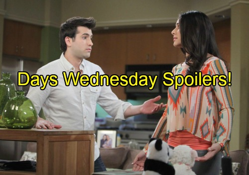 'Days of Our Lives' Spoilers: Chad Bids Abigail Farewell – Jealous Claire Seeks Belle's Guidance – Sonny and Gabi Remember Will
