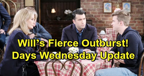 Days of Our Lives Spoilers: Wednesday, April 24 Update – Will's Fierce Outburst – Gabi Helps Stefan Dodge a Bullet