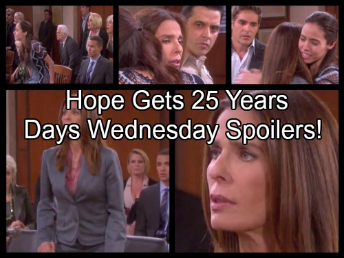 Days of Our Lives Spoilers: Hope Sentenced To 25 Years in Prison, No Parole – Theresa Cheats, Brady Crushed