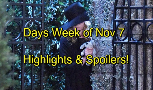 'Days of Our Lives' Spoilers: Week of November 7-11 – Baby Bombshells, Secret Deals and a Stunning Return