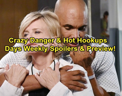 Days of Our Lives (DOOL) spoilers for the week of March 6 to March 10 tease that several Salemites will face extreme danger.