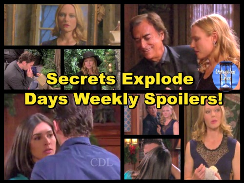 'Days of Our Lives' Spoilers: Week of December 12-16 – Exploding Secrets, Hot Romance and Evil Plans