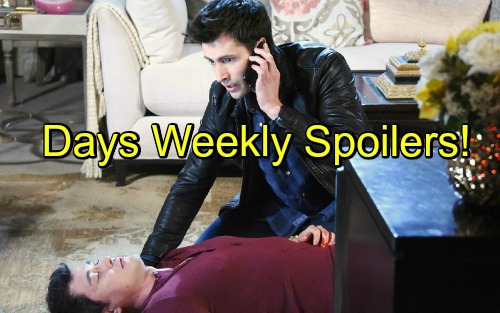 Days of Our Lives Spoilers: Cons Set Deadly Explosion - Sonny's CPR On Dying Paul - Dario Badly Injured, Can Eduardo Save Son