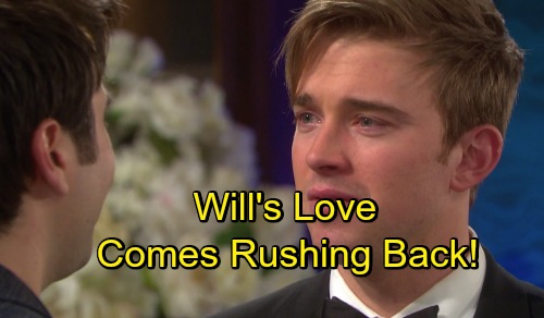 Days of Our Lives Spoilers: Wedding Triggers Will's Love For Sonny - Will Fully Embraces The Love