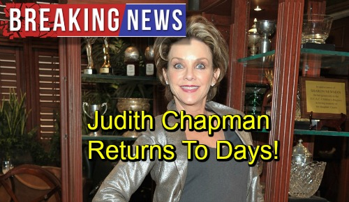 The Young and the Restless Spoilers: Breaking News - Judith Chapman Returns To Days of Our Lives In Exciting New Role