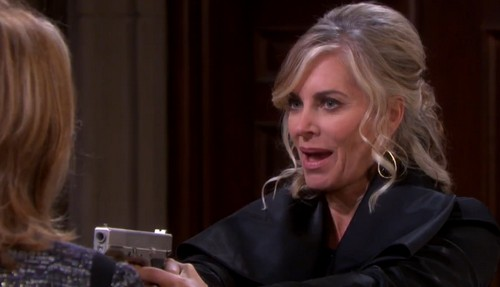 'Days of Our Lives' Spoilers: Kristen DiMera Plummets to Her Death - Marlena Struggles for Gun, Shoves Rival Out Window