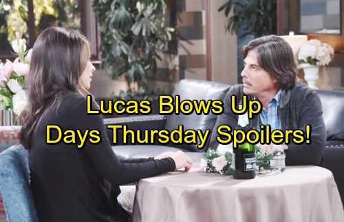 Days of Our Lives Spoilers: Thursday, October 5 - Lucas Explodes Over Sonny's Request – Gabi and Eli's Steamy Kiss
