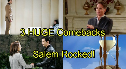 Days of Our Lives Spoilers: Comings and Goings – 3 Huge Comebacks Rock Salem – Hot DOOL Drama Ahead