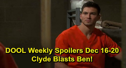 Days of Our Lives Spoilers: Week of December 16-20 – Dr. Rolf Hunt Goes Wrong – Clyde Blasts Ben – Roman Suspects Kate – Will's Sacrifice
