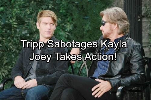 Days of Our Lives Spoilers: Tripp Sabotages Kayla's Career, Revenge Scheme Heats Up – Steve Suspicious, Joey Takes Action