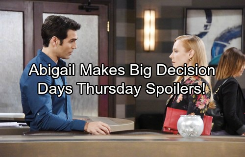 Days of Our Lives Spoilers: Lucas Blasts Chloe – Abigail Torn About Future – Chad and Gabi Connect