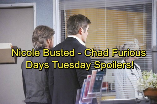 Days of Our Lives Spoilers: Tripp Delivers Next Blow – Chad Seethes Over Abigail's New Husband – Nicole's Story Falls Apart