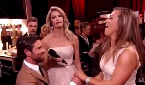 Erin Andrews Rolls Eyes During Noah Galloway Proposal To Jamie Boyd On Dancing With The Stars: DWTS Fans Furious With Host